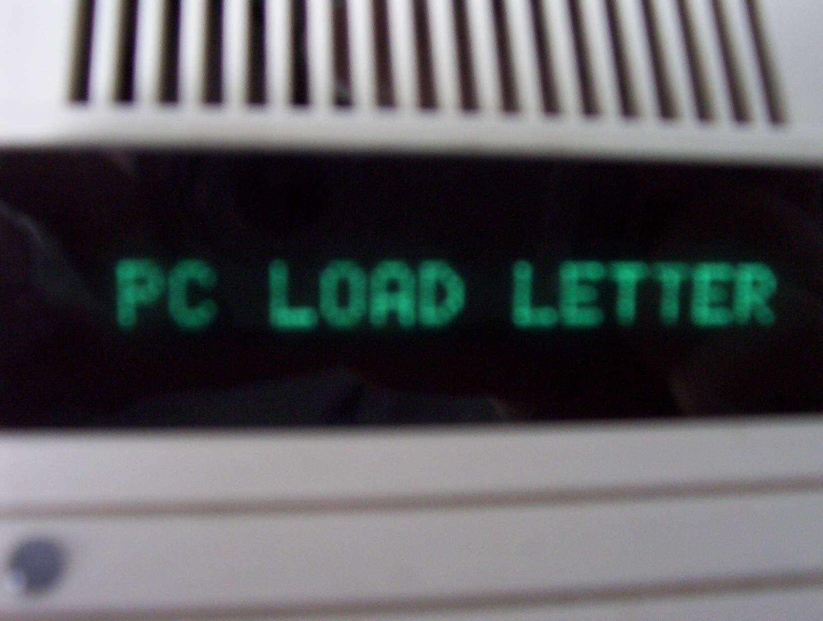 Office Space pc Load Letter That Said Quot pc Load Letter